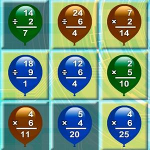 Math Balloons Multiplicat…